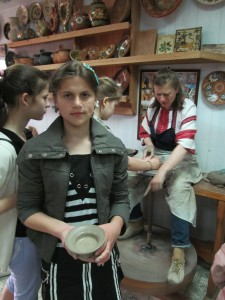 Natasha Pischik with selfmade plate 1