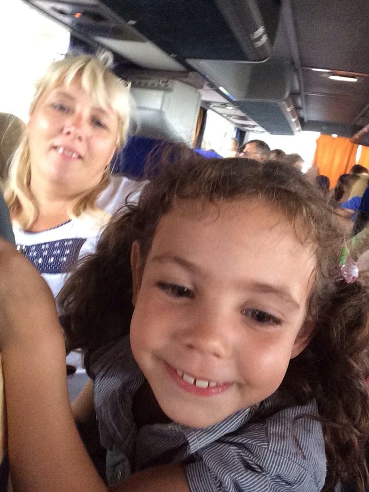 nastya on bus