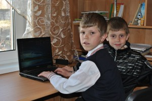 boys with laptop