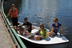 bank boating pond
